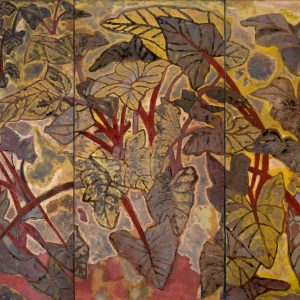 Ngọc Thọ – Yên Hòa, Nắng hanh vàng, sơn mài, 120×180 cm, 1993