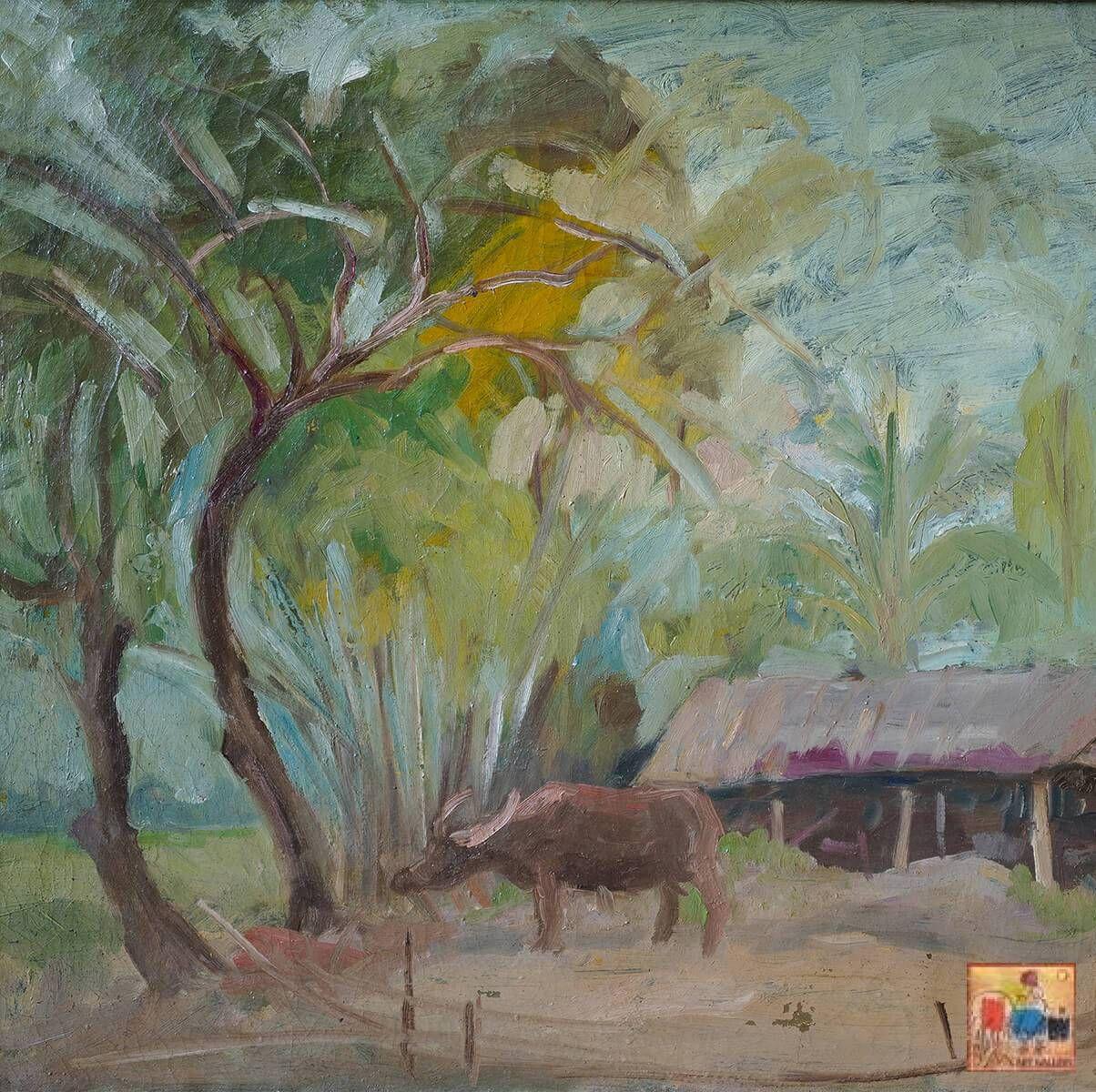 Hồ Phòng, sơn dầu, 54x65 cm
