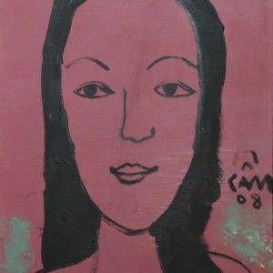 Hoàng Hồng Cẩm, chân dung NS Ánh Tuyết, sơn dầu, 50x40, 2008