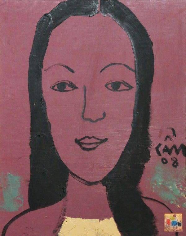 1.Hoàng Hồng Cẩm, chân dung NS Ánh Tuyết, sơn dầu, 50×40, 2008