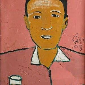 2.Hoàng Hồng Cẩm, chân dung Trương Văn Thuận, sơn dầu, 70×50, 2008