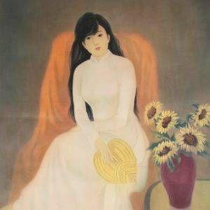 Mai Long, tuổi xuân, lụa, 80x60cm, 1985