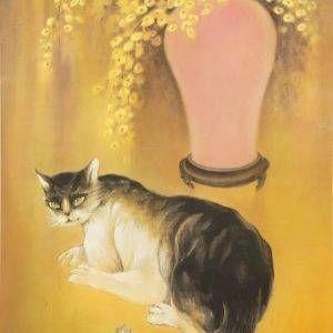 Mai Long, trầm tĩnh, lụa, 80x60cm, 1975