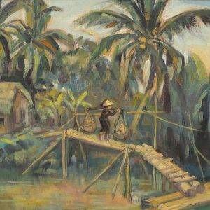 Thuận Hồ, Phong cảnh 1, Sơn dầu, 60×80, 1995
