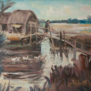 Thuận Hồ, Phong cảnh 2, Sơn dầu, 60×80, 1996 (1)