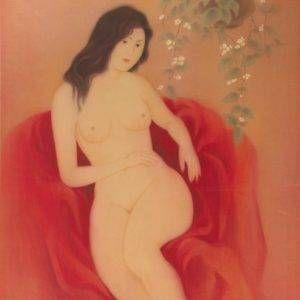 Mai Long, hương lan, lụa, 95x75cm, 1969