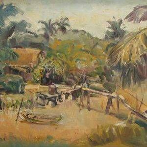 Thuận Hồ, Con do dung doi, 60X80 Sơn dầu, 1995 (1)