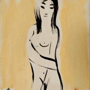 Lưu Công Nhân, Nude 1, sơn dầu, 60×80