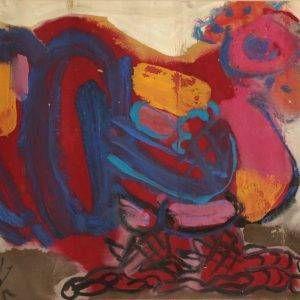 1.Đỗ Phấn, Gà, bột màu, 30x40cm, 2005