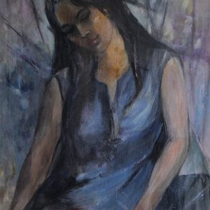 2. Trương Thị Thịnh, 97×61 cm, sơn dầu