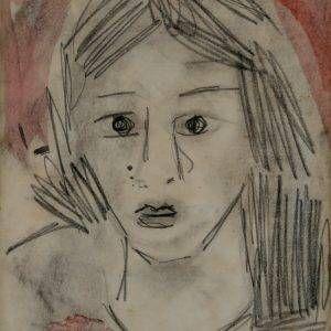 32.Bàng Sĩ Nguyên, chan dung, tổng hợp, 28×23, 1999