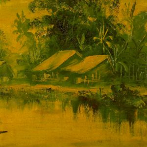 5.Nguyễn Trí Minh, phong cảnh 1, sơn dầu, 38×58, 1967