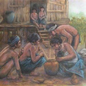 Lâm Kim, sung túc, phấn tiên, 76x100cm, 1978