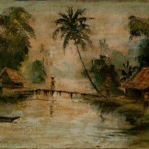 9.Nguyễn Trí Minh, phong cảnh 5, sơn dầu, 35×70