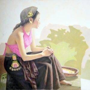 Nghiêm Xuân Hưng, vấn vương, sơn dầu, 80x100cm, 2018