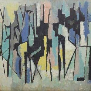 Tạ Tỵ, mầu bột trên giấy, Mùa thanh xuân, 50x65cm, 1960