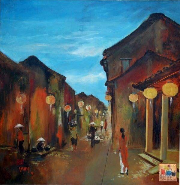 Văn Y, Phố cổ Hội An, sơn dầu, 90x90cm, 2008
