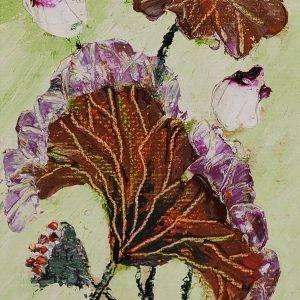 1. Nguyễn Phan Hòa, sen, sơn dầu, 30x18cm, 2007