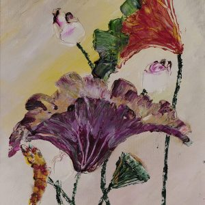 11. Nguyễn Phan Hòa, sen, sơn dầu, 40×30 cm, 2007