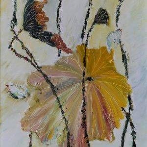 12. Nguyễn Phan Hòa, sen, sơn dầu, 40×30 cm, 2007