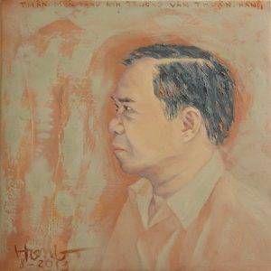 13. Đoàn Hồng, chân dung Trương Văn Thuận, sơn dầu, 40x40cm, 2013