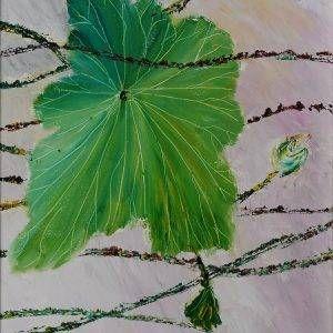 13. Nguyễn Phan Hòa, sen, sơn dầu,40x30cm, 2007