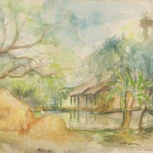 13.Hồ Phòng, Bình Trị Đông, mầu nước, 22×29,17-2-1985
