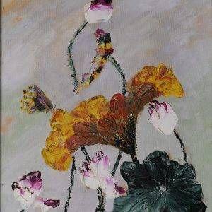 14. Nguyễn Phan Hòa, sen, sơn dầu, 40×30 cm, 2007