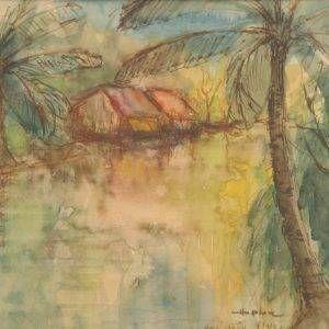 14.Hồ Phòng, Hóc Môn, mầu nước, 22×28.1997