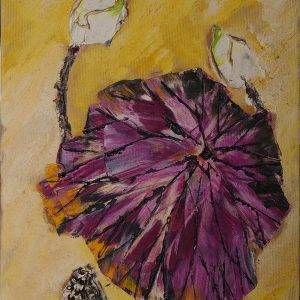 15. Nguyễn Phan Hòa, sen, sơn dầu, 40×30 cm, 2008