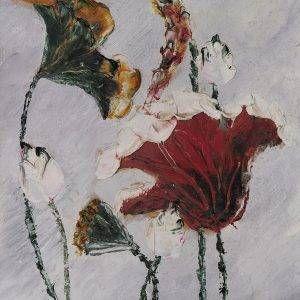 16. Nguyễn Phan Hòa, sen, sơn dầu, 40×30 cm, 2007