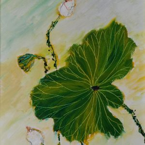 17. Nguyễn Phan Hòa, sen, sơn dầu, 40×30 cm, 2007