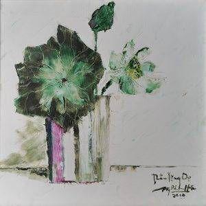 18. Nguyễn Phan Hòa, sen, sơn dầu, 50x50cm, 2010