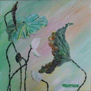 19. Nguyễn Phan Hòa, sen, sơn dầu, 75×75 cm, 2007