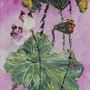 2. Nguyễn Phan Hòa, sen, sơn dầu, 30×18 cm, 2007