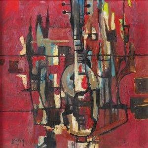 2. Văn Y, Trừu tượng, sơn dầu, 75×75 cm, 2011