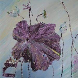 21. Nguyễn Phan Hòa, sen, sơn dầu,75×75 cm, 2007