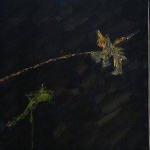 23. Nguyễn Phan Hòa, sen, sơn dầu, 50x150cm,2009
