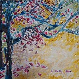 24. Nguyễn Phan Hòa, hoa, sơn dầu, 90×140 cm, 2008