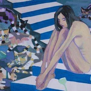 25.Đoàn Hồng, đêm tân hôn, bột mầu, 54x79cm, 2011
