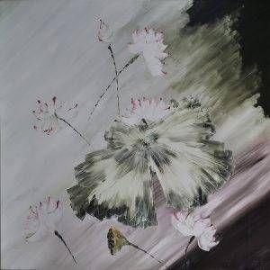 27. Nguyễn Phan Hòa, sen, sơn dầu, 130×130 cm, 2009