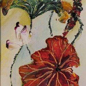 3. Nguyễn Phan Hòa, sen, sơn dầu, 30×18 cm, 2007