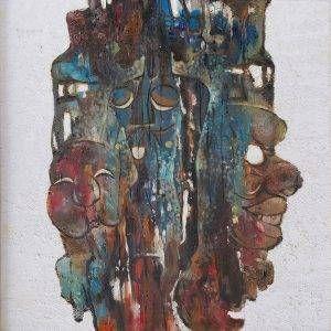 3. Văn Y, Trừu tượng, sơn dầu, 75×75 cm