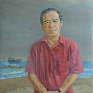 31.Đoàn Hồng, chân dung Trương Văn Thuận, sơn dầu, 80x60cm, 2013