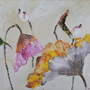 4.Nguyễn Phan Hòa, sen, sơn dầu, 30×40 cm, 2007