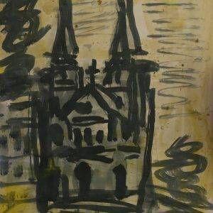 42.Bàng Sĩ Nguyên, nhà thờ, tổng hợp, 34×27, 2004