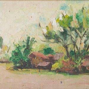 5. Hồ Phòng, phong cảnh,sơn dầu, 21x34cm, 1995