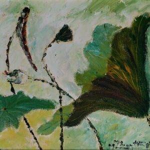 5. Nguyễn Phan Hòa, sen, sơn dầu,30×40 cm, 2007