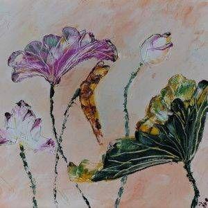8. Nguyễn Phan Hòa, sen, sơn dầu,30×40 cm, 2007
