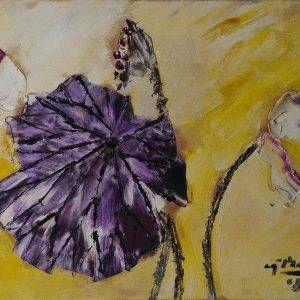 9. Nguyễn Phan Hòa, sen, sơn dầu, 30×40 cm, 2008